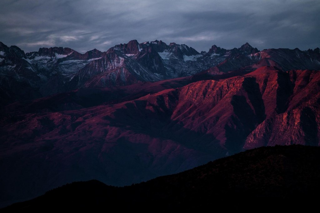 Mountains in the dusk